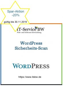 WordPress Sicherheits-Scan Aktion -20%